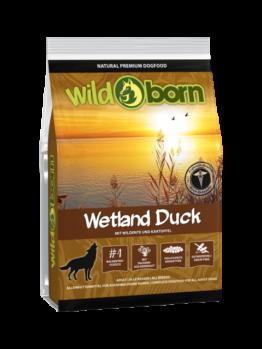 Wildborn Wetland Duck mit Ente 500g, Trockenfutter, getreidefrei, Hundefutter mit frischer Ente für Hunde aller Rassen und jeden Alters (7,98 EUR pro