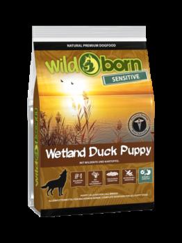 Wildborn Wetland Duck Puppy Sensitive 500g, Trockenfutter, getreidefrei, Hundefutter, Welpenfutter mit frischer Ente für Welpen und Junghunde aller