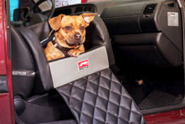 Dogstyler® Basic für die Autositze New York XS - S Hundebox Kunstleder Hundesitz