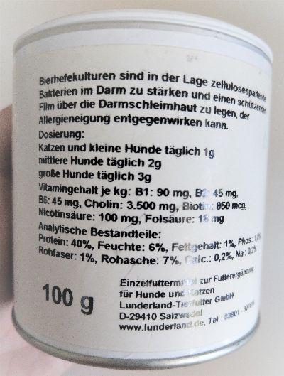 Bierhefe Hund Dosierung Lunderland